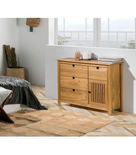 Comprar online Cómoda en madera natural de pino Colección BRUNA