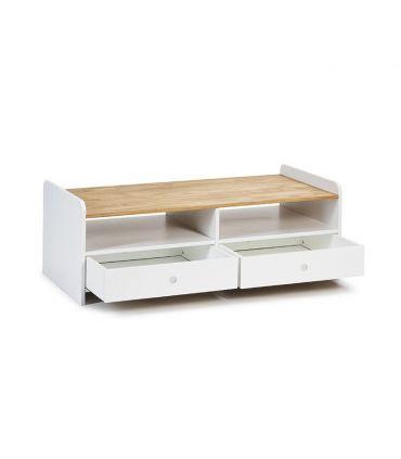 Mesa de centro de madera Colección MONTE Blanco/cera