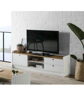 Comprar online Mueble de Televisión en madera Colección MONTE Blanco/cera
