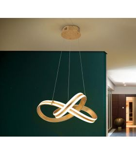 Comprar online Lámpara de techo con Iluminación LED modelo LAZAS Oro