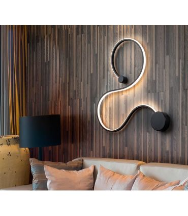 Aplique de pared en Acero y Aluminio GRAFOS Negro PQ