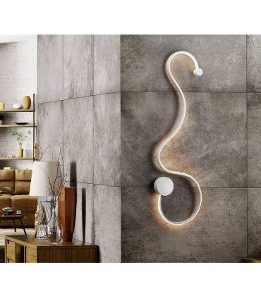 Aplique Moderno en Acero y Aluminio GRAFOS Blanco GR