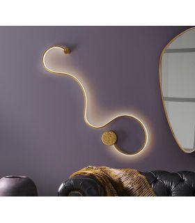 Comprar online Aplique Moderno en Acero y Aluminio GRAFOS pan de Oro GR