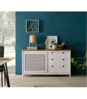 Comprar online Mueble Aparador en madera natural de pino Colección BRUNA Blanco