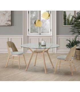 Comprar online Set de 2 sillas de madera tapizadas modelo BRUXELLES
