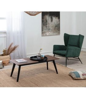 Comprar online Mesa de centro con bandeja modelo INDIA Nogal