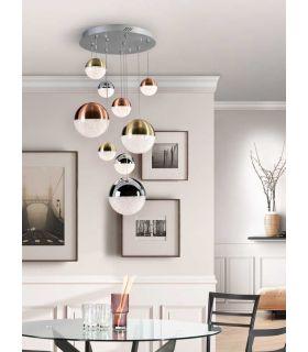 Lámpara Moderna de 9 Luces Colección SPHERE Dimable