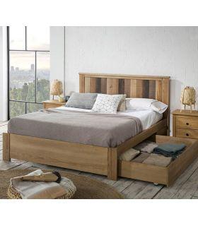 Comprar online Cama en madera de Pino con Cajones MAUDE Natural