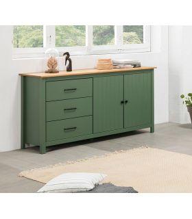 Comprar online Mueble Aparador en madera de pino MIRANDA Verde