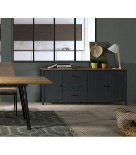 Comprar online Buffet Aparador en madera de pino MIRANDA Azul