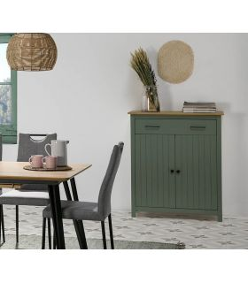 Comprar online Mueble Auxiliar en madera de pino Colección MIRANDA Verde