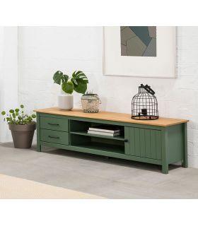 Comprar online Mueble de Televisión en madera de pino MIRANDA Verde