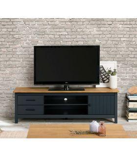 Comprar online Mueble de Televisión en madera de pino MIRANDA Azul