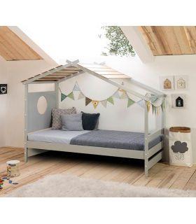 Comprar online Cama cabaña Juvenil Infantil en madera de pino NAYAH