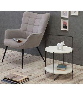 Comprar online Mesa auxiliar en madera y metal TESSA Blanca