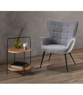 Comprar online Mesa auxiliar en madera y metal TESSA Roble