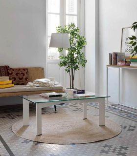 Comprar online Mesa de centro en Forja con tapa de cristal PARIS