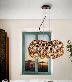 Comprar online Lámpara de Techo de Schuller 5 luces : Colección NARISA oro rosa