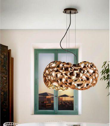 Lámpara de Techo de Schuller 5 luces : Colección NARISA oro