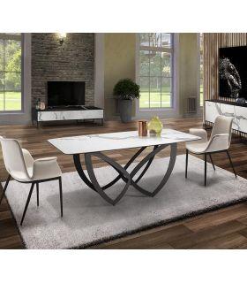 Comprar online Mesa de comedor en metal y porcelánico modelo FORMAS