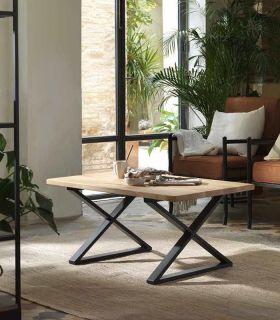 Comprar online Mesa de centro con tapa de madera de roble SICILIA