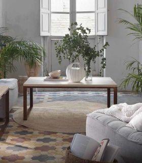 Comprar online Mesa de centro con tapa de madera de pino VIENA