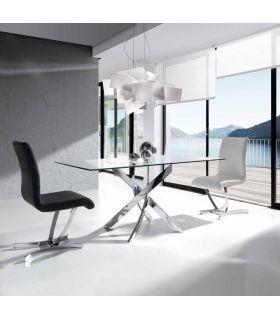 Comprar online Mesa de Acero y Cristal templado : Modelo RUBICON