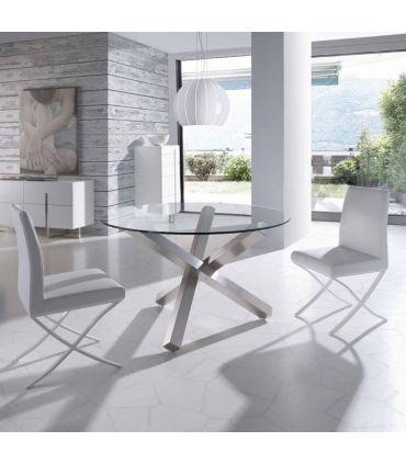 Mesas de Comedor de Acero y Cristal : Modelo BUZZ