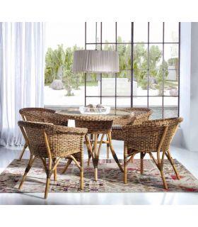 Comprar online Mesa redonda de Rattan : Modelo GIUNCO