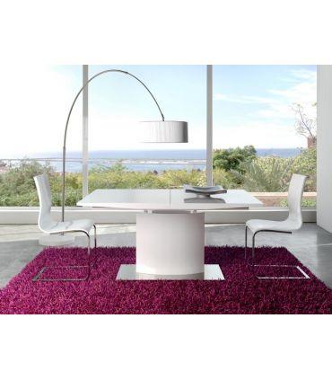Mesas de Comedor-Salon en Madera : Modelo AMALTEA blanco