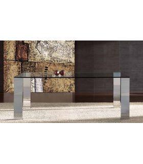 Comprar online Mesas de comedor de acero y cristal : Modelo NIT