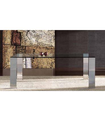 Mesas de comedor de acero y cristal : Modelo NIT
