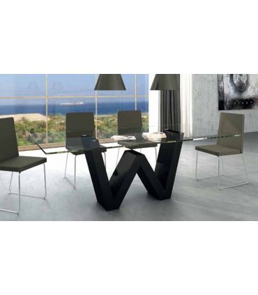 Mesas de comedor de diseño : Modelo WENDA Cristal