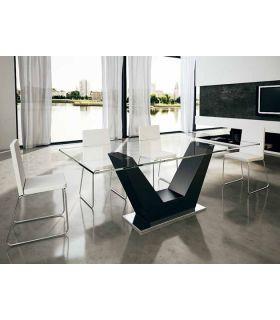 Comprar online Mesas de Salón Comedor : Modelo VERONA Cristal