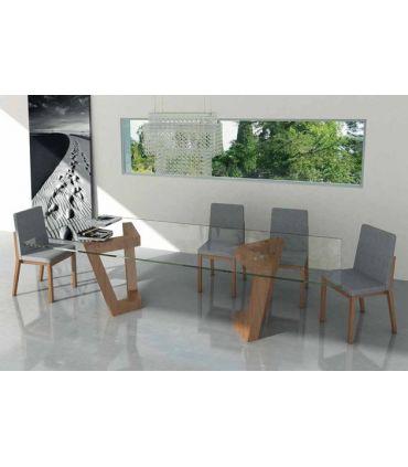 Mesas de comedor de diseño : Modelo OLIMPIA Cristal