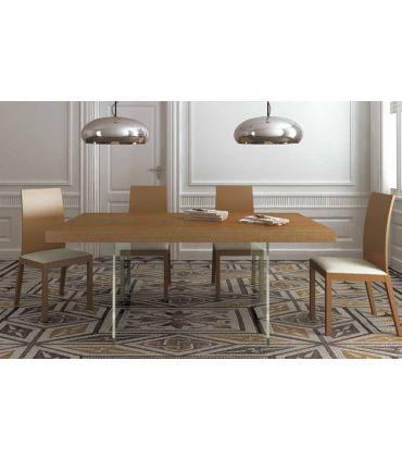 Mesas de comedor en cristal y madera : Modelo CLEAR