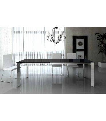 Mesas de comedor de acero y cristal : Modelo MARINA