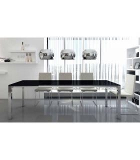 Comprar online Mesas de comedor de acero y cristal : Modelo ROSA