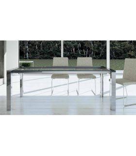 Comprar online Mesas de comedor de aluminio y cristal : Modelo TAMA