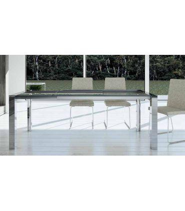 Mesas de comedor de aluminio y cristal : Modelo TAMA