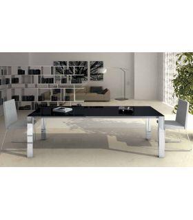 Comprar online Mesas de comedor de acero y cristal : Modelo SUSAN