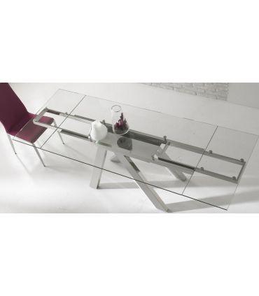 Mesas de comedor de acero y cristal : Modelo TREE