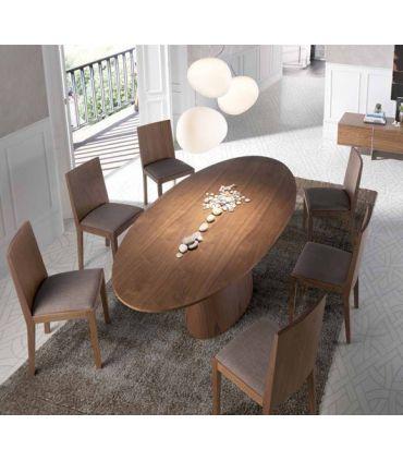Mesas de Comedor de Madera : Modelo TETUAN Nogal