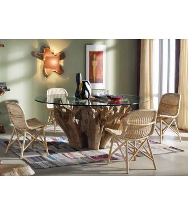Mesas de Comedor de Madera Natural : Coleccion NAGA