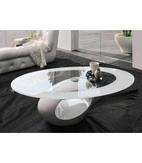 Comprar online Mesa de Centro de Cristal y Fibra de Vidrio : BOND Blanca