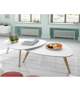 Comprar online Mesa de centro de madera(Set 2 unidades) : Modelo SUECIA