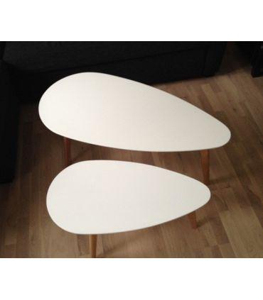 Mesas de centro de madera(Set 2 unidades) : Modelo SUECIA