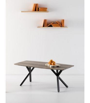 Mesa de Centro en Madera y Metal : Modelo IRENE