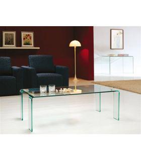 Comprar online Mesa de Centro de Cristal Curvado : Modelo EVORA Rectangular