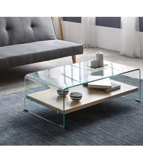 Comprar online Mesa de Centro en Cristal templado y Madera : Modelo ASTURIAS
